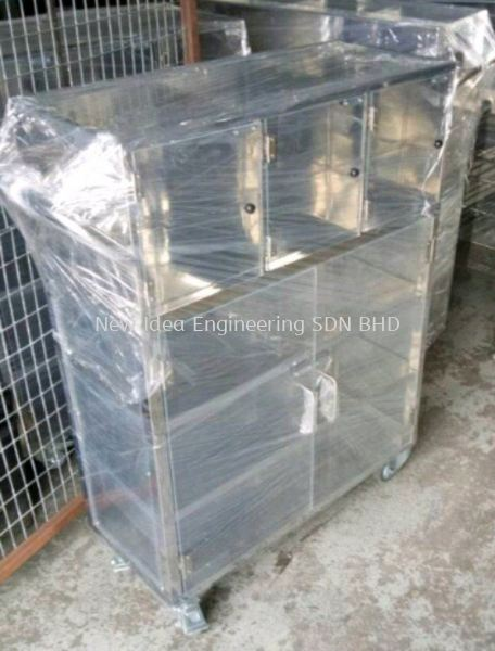 Perspex doors cum Stainless steel cabinets CABINET Penang, Malaysia, Bukit Mertajam Supplier, Suppliers, Supply, Supplies | New Idea Engineering Sdn Bhd