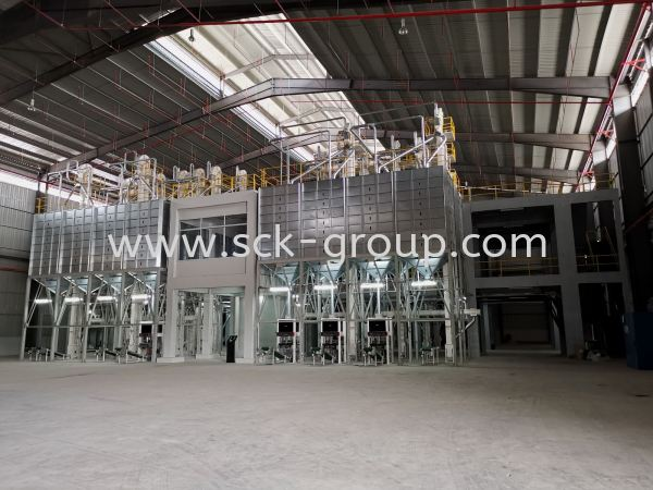 Packing Silo and Packing Machine Section 32TPH Rice Processing Plant Project Penang (Pulau Pinang), Malaysia. Supplier, Manufacturer, Supply, Supplies | SCK Automation Sdn Bhd