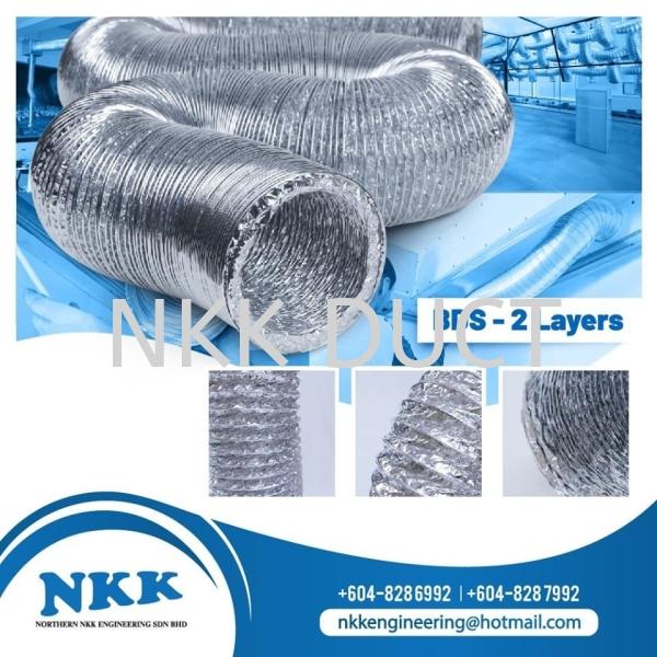 BDS (2 Layer) Aluminium Foil Flexible Duct Malaysia, Penang, Kedah, Singapore, Kuala Lumpur (KL), Selangor Manufacturer, Supplier, Exporter, Distributor | Northern NKK Engineering Sdn Bhd