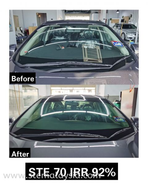 Honda City Done Install STE Window Film Front   Windscreen  Benefit of STE Window Tint -  Up To 9 Years Warranty !  Accept Old Tinted Trade In !  Trade In Value Up To RM 2100 !  We Only Have High UV & IR Rejection !  Privacy and Security !  Protects The Interior Of Your Vehicle !  T & C Apply   Choosing the right heat rejection window films for your car  is very important especially under the hot weather  in Penang. A good quality car window film is able to reduce the heat & harmful UV rays from direct sunlight  so it keeps you comfortable in the car and protects the interior of your car such as the leather seats & dashboard.  STE Auto Detailing offers the best in class car window films from USA that approved by JPJ . Honda STE Window Film Penang, Malaysia, Bayan Lepas Car, Service | STE Auto Detailing Trading