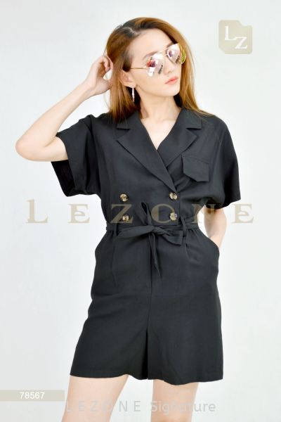 78567 TRENCH ROMPER【2nd pcs onwards 50%】 打折连身裤 / 连身套装 特 价 优 惠    | LE ZONE Signature