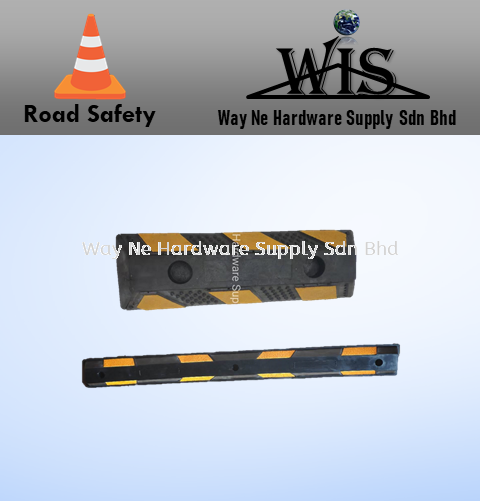 Rubber Wheel Stopper Stopper Road Safety  Selangor, Malaysia, Kuala Lumpur (KL), Klang Supplier, Suppliers, Supply, Supplies   Way Ne Hardware Supply Sdn Bhd