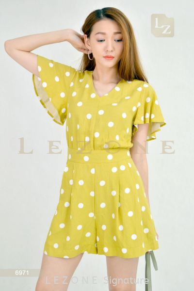 6971 POLKA DOT ROMPER¡¾2ND 50%¡¿ Jumpsuit / Romper / Suit On Sale S A L E  Selangor, Kuala Lumpur (KL), Malaysia, Serdang, Puchong, Cheras Supplier, Suppliers, Supply, Supplies | LE ZONE Signature