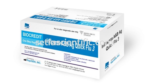 Influenza A & B Rapid Test- Cassette BioCredit Infectious Disease Rapid Test Kuala Lumpur (KL), Malaysia, Selangor Supplier, Suppliers, Supply, Supplies | Setia Scientific Solution