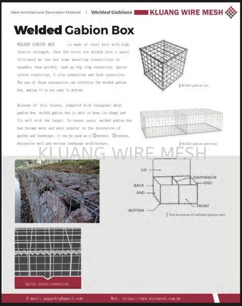 WELDED GABION CATALOG WELDER GABIONS Johor, Malaysia, Kluang Supplier, Suppliers, Supply, Supplies | Kluang Wire Mesh (M) Sdn Bhd