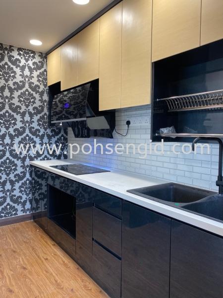 Solid Ply Laminate Kitchen Cabinet #LILI RESIDENSI  Kitchen Seremban, Negeri Sembilan (NS), Malaysia Renovation, Service, Interior Design, Supplier, Supply | Poh Seng Furniture & Interior Design