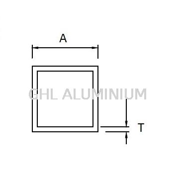 Square Hollow Aluminium Hollow(Square) Selangor, Klang, Malaysia, Kuala Lumpur (KL) Supplier, Wholesaler, Supply, Supplies | GHL ALUMINIUM MARKETING SDN BHD