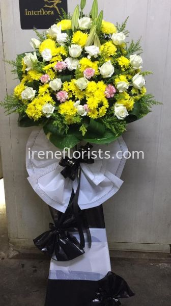FW034 Funeral Wreath Taiping, Perak, Malaysia. Suppliers, Supplies, Supplier, Supply | Irene's Florists De Beaute