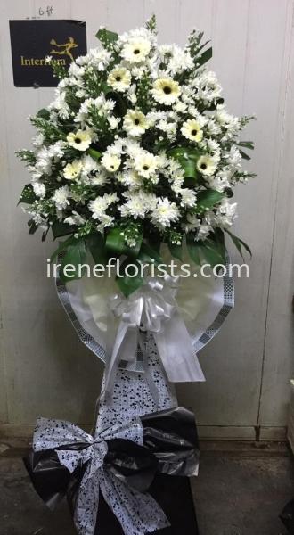 FW049 Funeral Wreath Taiping, Perak, Malaysia. Suppliers, Supplies, Supplier, Supply   Irene's Florists De Beaute