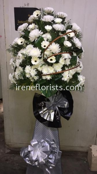 FW059 Funeral Wreath Taiping, Perak, Malaysia. Suppliers, Supplies, Supplier, Supply | Irene's Florists De Beaute