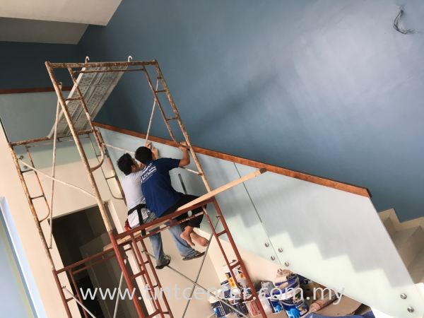 Frosted Film For Staircase Frosted Film Residential Tinted Melaka, Malaysia, Malim Jaya Supplier, Installation, Supply, Supplies | Tint Center