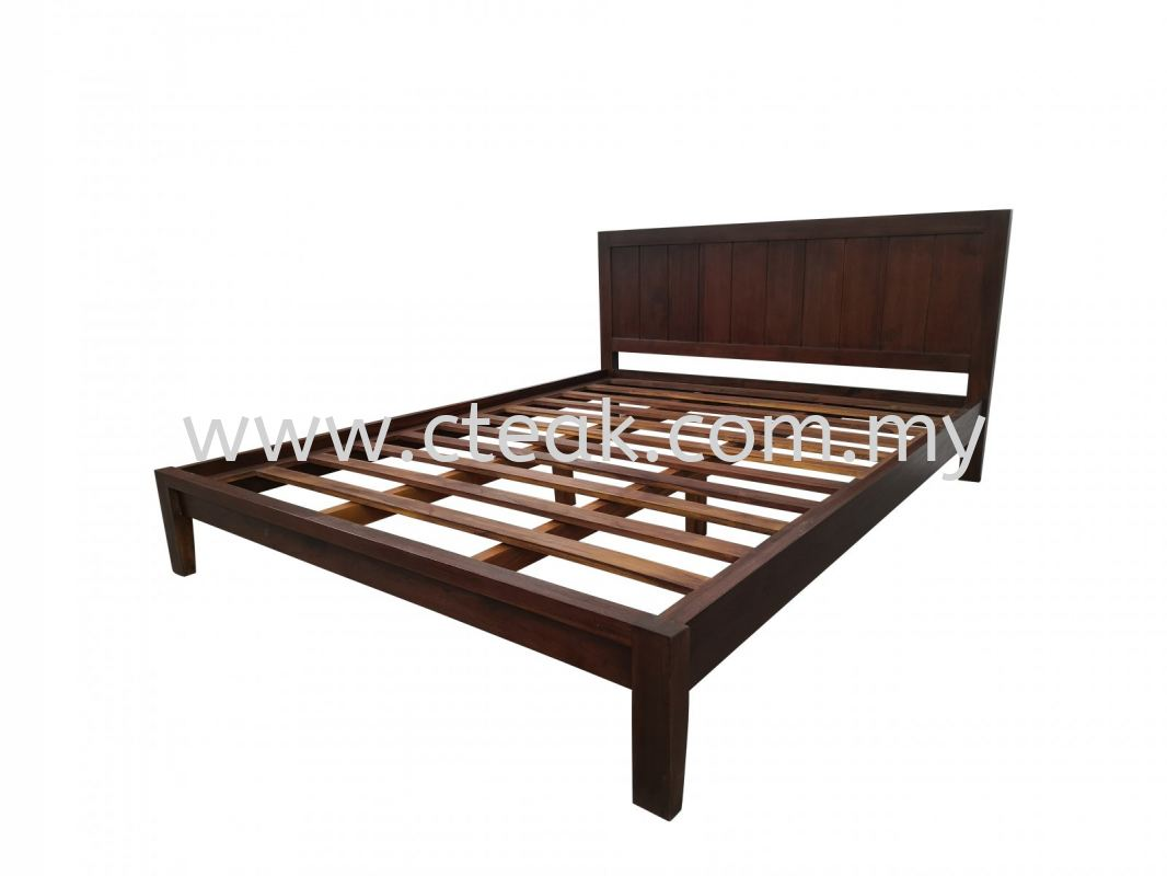 Bed Queen Size (D4) (Dark Walnut Color)