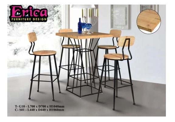 erica Scandinavian Bar Table Set -T-G10+C-S01 (1+4) BAR STOOL Johor Bahru (JB), Permas Jaya Supplier, Suppliers, Supply, Supplies | Erica Furniture Design Sdn Bhd