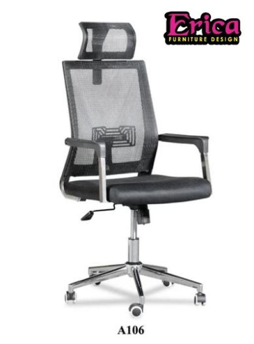 erica Mid / High back Mesh Chair - Black