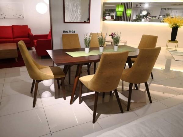 Roverto Wooden Dining Set Dining Set Selangor, Malaysia, Kuala Lumpur (KL), Puchong, Shah Alam Supplier, Suppliers, Supply, Supplies | Mitaly Urban Living