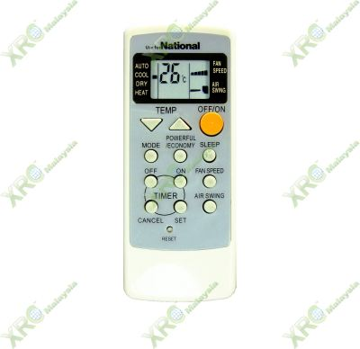 A75C2160 NATIONAL AIR CONDITIONING REMOTE CONTROL
