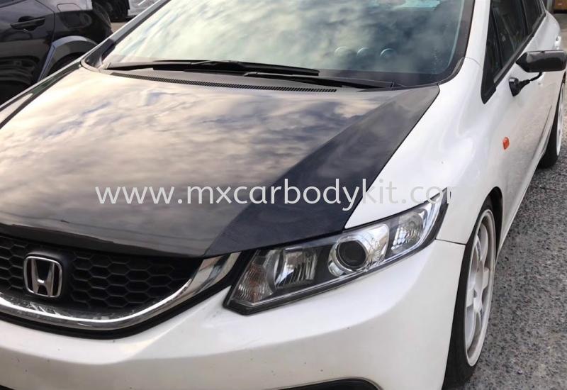 HONDA CIVIC FB OEM BONNET HOOD CARBON  CIVIC FB 2012 - 2015 HONDA Johor, Malaysia, Johor Bahru (JB), Masai. Supplier, Suppliers, Supply, Supplies | MX Car Body Kit