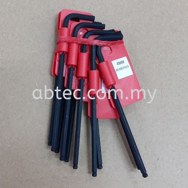 Akey4mm-Allen Key 4 Point Bondhus Allen key Set Hand Tools Selangor, Malaysia, Kuala Lumpur (KL), Shah Alam Supplier, Suppliers, Supply, Supplies | Abtec Industrial Sdn Bhd
