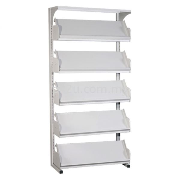 SSLM-5L-OP - Single Sided Magazine Rack (5 Shelves) Library Shelving & Equipment Education Furniture Johor Bahru, JB, Malaysia Manufacturer, Supplier, Supply | PK Furniture System Sdn Bhd