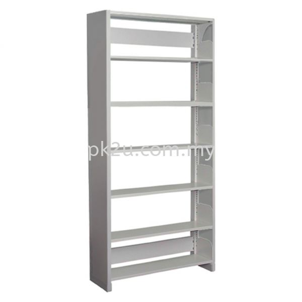 SSLS-6L-SP - Single Sided Library Shelving With Steel Panel (6 Shelves) Library Shelving & Equipment Education Furniture Johor Bahru, JB, Malaysia Manufacturer, Supplier, Supply | PK Furniture System Sdn Bhd