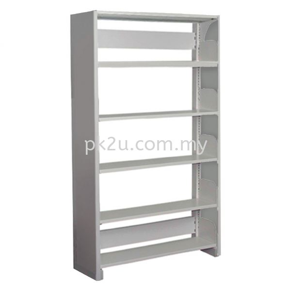 SSLS-5L-SP - Single Sided Library Shelving With Steel Panel (5 Shelves) Library Shelving & Equipment Education Furniture Johor Bahru, JB, Malaysia Manufacturer, Supplier, Supply | PK Furniture System Sdn Bhd