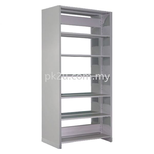DSLS-6L-SP - Double Sided Library Shelving With Steel Panel (12 Shelves) Library Shelving & Equipment Education Furniture Johor Bahru, JB, Malaysia Manufacturer, Supplier, Supply   PK Furniture System Sdn Bhd