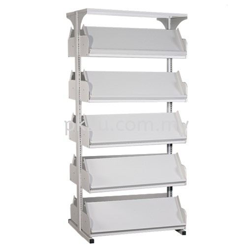 DSLM-5L-OP - Double Sided Magazine Rack (5 Shelves) Library Shelving & Equipment Education Furniture Johor Bahru, JB, Malaysia Manufacturer, Supplier, Supply | PK Furniture System Sdn Bhd