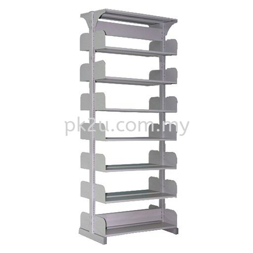 DSLS-7L-OP Double Sided Library Shelving (14 Shelves) Library Shelving & Equipment Education Furniture Johor Bahru, JB, Malaysia Manufacturer, Supplier, Supply   PK Furniture System Sdn Bhd