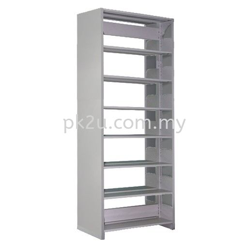 DSLS-7L-SP - Double Sided Library Shelving With Steel End Panel (14 Shelves) Library Shelving & Equipment Education Furniture Johor Bahru, JB, Malaysia Manufacturer, Supplier, Supply | PK Furniture System Sdn Bhd