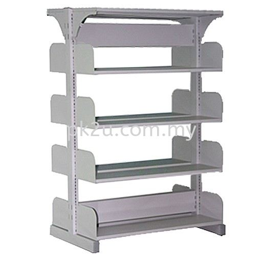 DSLS-4L-OP - Double Sided Library Shelving (8 Shelves) Library Shelving & Equipment Education Furniture Johor Bahru, JB, Malaysia Manufacturer, Supplier, Supply   PK Furniture System Sdn Bhd