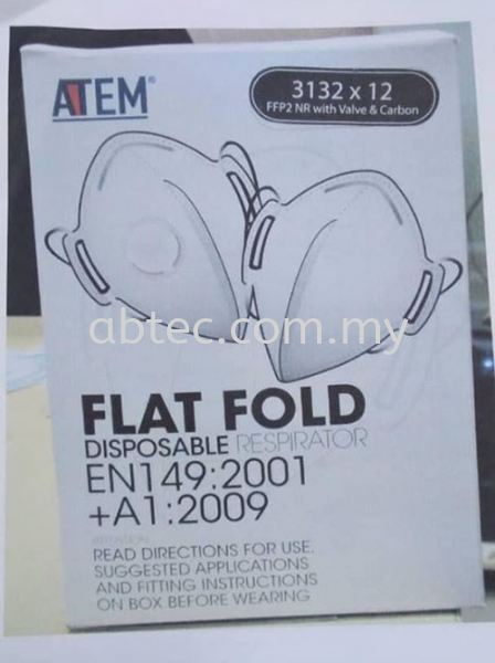 ATEM Flat Fold Disposable Respirator Particulate Respirator Mask Safety Equipment Selangor, Malaysia, Kuala Lumpur (KL), Shah Alam Supplier, Suppliers, Supply, Supplies   Abtec Industrial Sdn Bhd