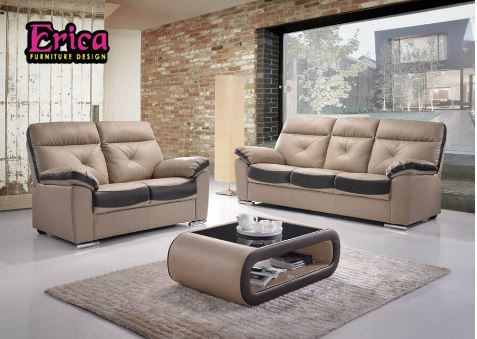ERICA PU Sofa Set (R+2+3)