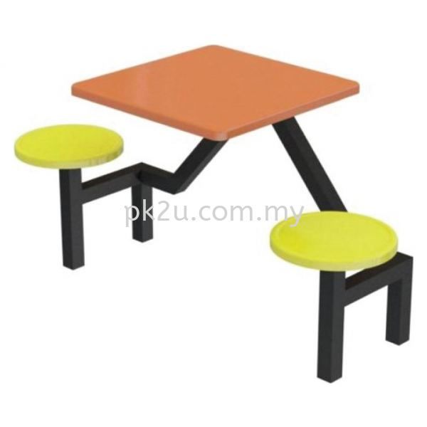 FRP-A1-2 - 2 Seater Canteen Table Set Canteen Table Set Canteen Furniture Johor Bahru, JB, Malaysia Manufacturer, Supplier, Supply | PK Furniture System Sdn Bhd