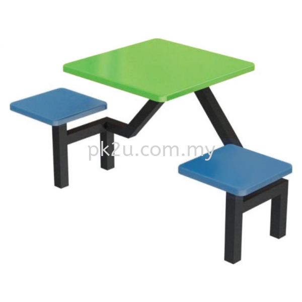 FRP-A3-2 - 2 Canteen Table Seater Set Canteen Table Set Canteen Furniture Johor Bahru, JB, Malaysia Manufacturer, Supplier, Supply | PK Furniture System Sdn Bhd