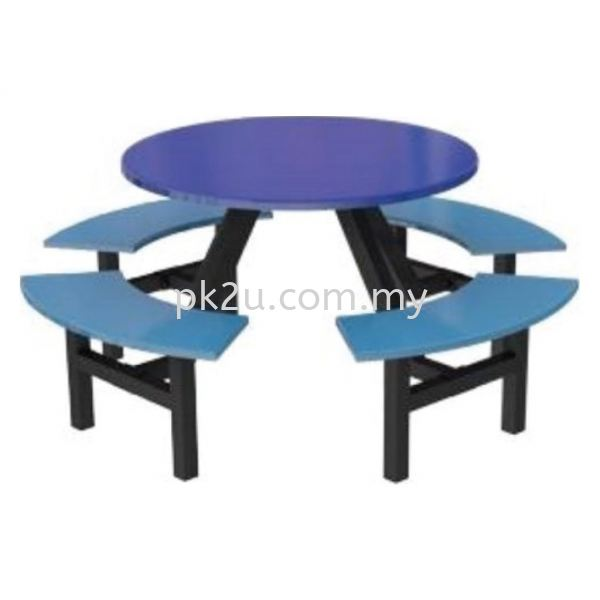 FRP-C10-8 - 8 Canteen Table Seater Set Canteen Table Set Canteen Furniture Johor Bahru, JB, Malaysia Manufacturer, Supplier, Supply   PK Furniture System Sdn Bhd