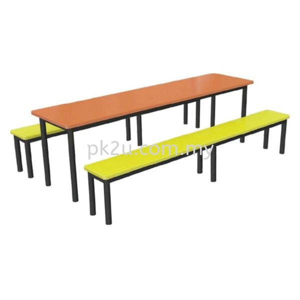 FRP-D4-8 - 8 Canteen Table Seater Set Canteen Table Set Canteen Furniture Johor Bahru, JB, Malaysia Manufacturer, Supplier, Supply | PK Furniture System Sdn Bhd