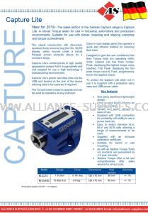 GEDORE Lightweight Torque Tester, Capture Lite, Range:1-10Nm & 10-400Nm.