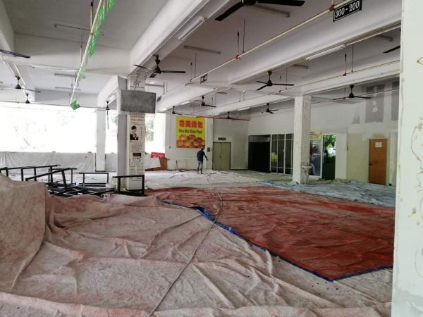 S2 ONE UP FOOD COURT Refurbishment and painting works in progress Restaurant Painting Service 油漆服务 Negeri Sembilan, Port Dickson, Malaysia Service | TKC Painting Seremban Negeri Sembilan