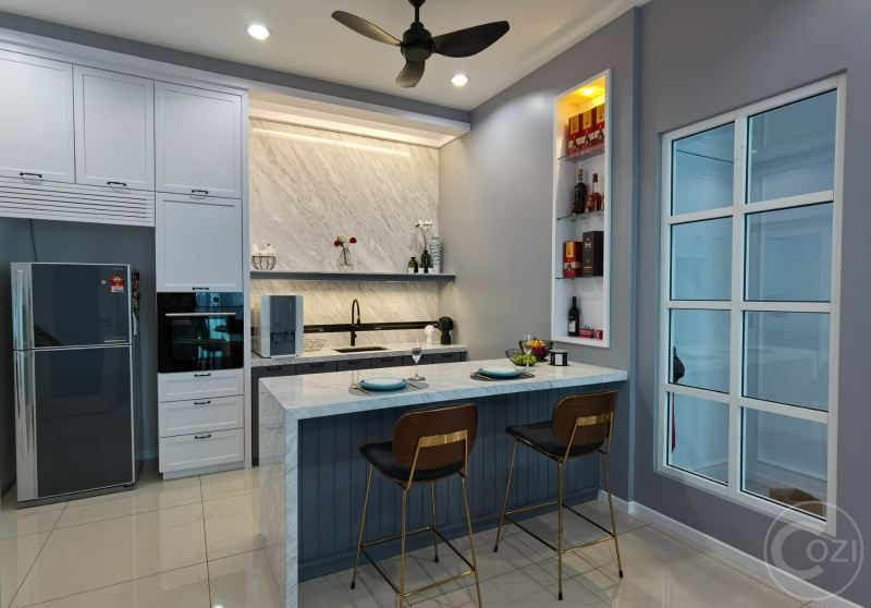 Semi-D renovation work Dry Kitchen Interior Design (residential) Penang, Malaysia, Butterworth Design, Renovation, Contractor, Services | Cozi Design Sdn Bhd