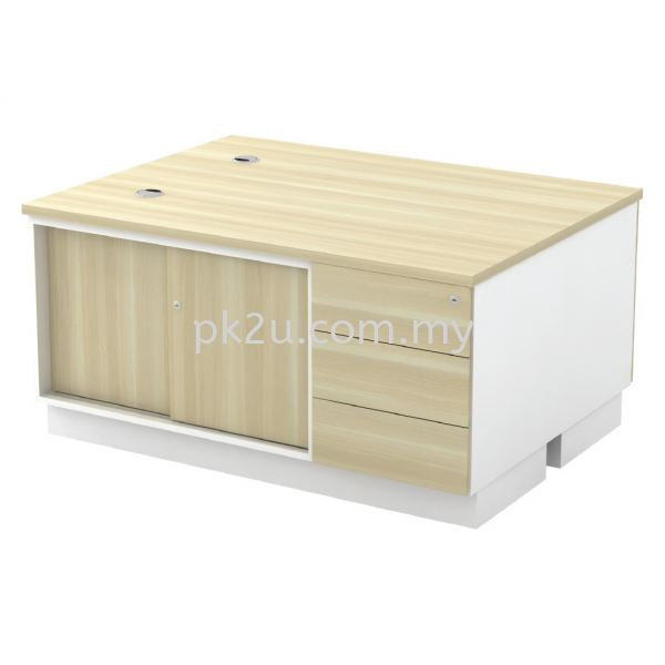 SC-YSP-1236-2E - Sliding Door + Fixed Pedestal 3D Side Cabinet (600mm Height) Filing & Storage Johor Bahru, JB, Malaysia Manufacturer, Supplier, Supply | PK Furniture System Sdn Bhd