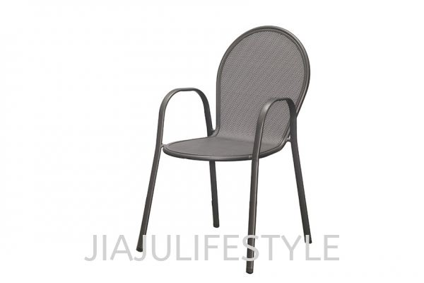 Outdoor Steel Chair - Cool Grey Outdoor Chair Outdoor Furniture  Furniture Penang, Malaysia, Bukit Mertajam Supplier, Suppliers, Supply, Supplies   Jiaju Lifestyle Sdn Bhd