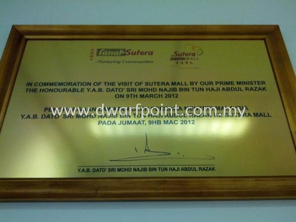 Gold Aluminium UV Direct on Plague Aluminium Johor Bahru (JB), Malaysia, Mount Austin, Desa Jaya Supplier, Manufacturer, Supply, Supplies   Dwarf Point Sdn Bhd