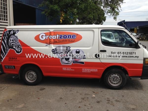 Commercial Van Sticker Wrap and Deco Sticker Johor Bahru (JB), Malaysia, Mount Austin, Desa Jaya Supplier, Manufacturer, Supply, Supplies | Dwarf Point Sdn Bhd