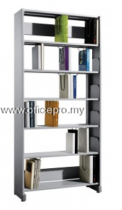 IPS-605 LIBRARY SINGLE SIDED RACK WITH STEEL SIDE PANEL (CLOSE)