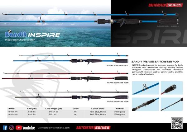 Bandit Inspire  Baitcaster Rod BANDIT  Selangor, Malaysia, Kuala Lumpur (KL), Klang Fishing, Supplier, Supply, Supplies   Kesan Kenangan Sdn Bhd