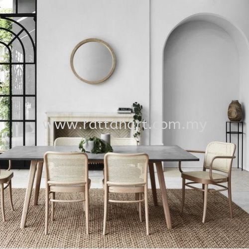 RATTAN DINING CHAIR TON 811 (SIDE CHAIR)