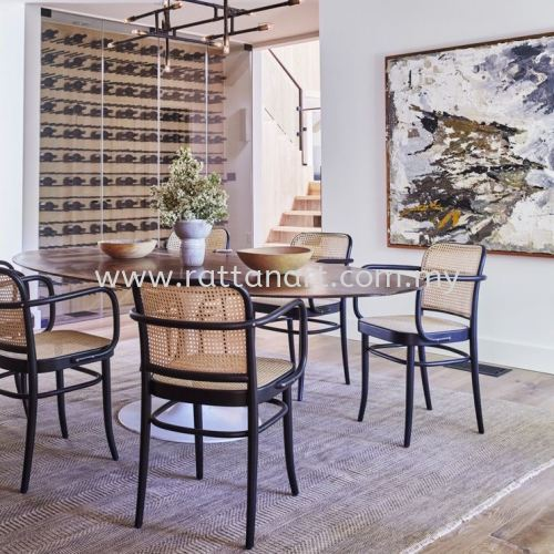 RATTAN DINING CHAIR TON 811 (ARM CHAIR)