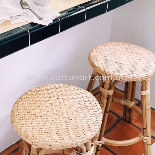 RATTAN COUNTER STOOL COIN R