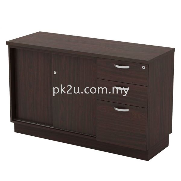 SC-YSP-7123 - Sliding Door + Fixed Pedestal 2D1F Combination Cabinet (750mm Height) Filing & Storage Johor Bahru, JB, Malaysia Manufacturer, Supplier, Supply | PK Furniture System Sdn Bhd