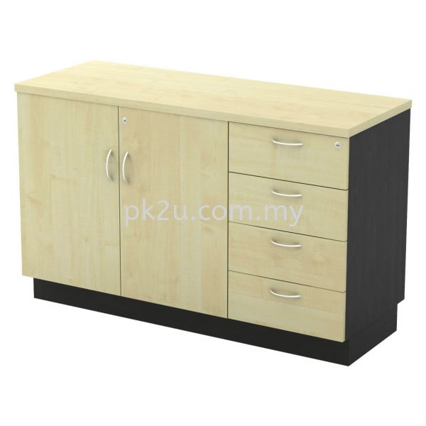 SC-YDP-7124 - Swinging Door + Fixed Pedestal 4D Combination Cabinet (750mm Height) Filing & Storage Johor Bahru, JB, Malaysia Manufacturer, Supplier, Supply | PK Furniture System Sdn Bhd
